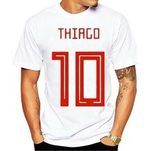 2021 freizeit Mode 100% baumwolle T-shirt Thiago 10 2 Top Männer O Neck