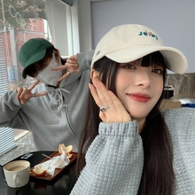 INS Fashion Brand Peaked Cap Female Japanese Style New Korean-style Casual Sun-Proof Visor Hardtop M