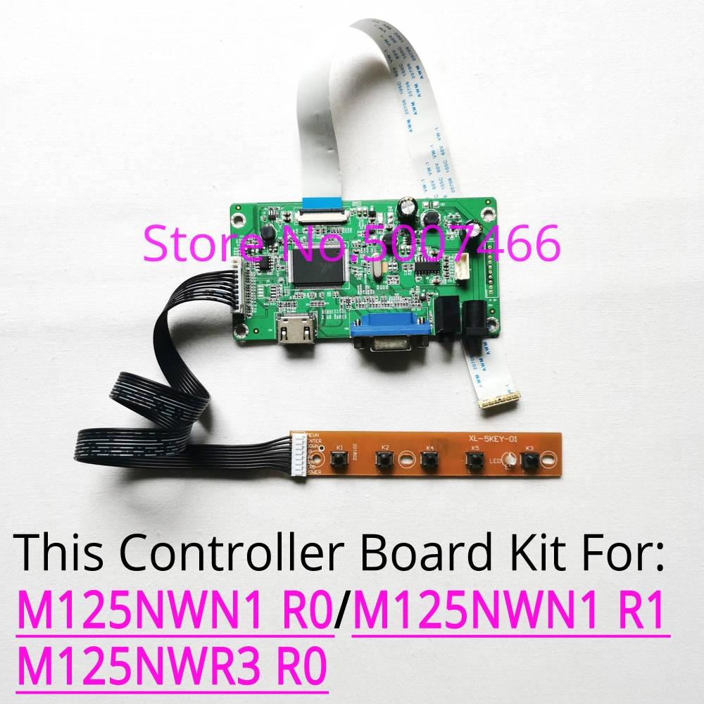 Para M125NWN1 R0/R1 M125NWR3 R0 portátil LCD panel W 1366*768 EDP 30-pin HDMI pantalla VGA tarjeta controlador Placa de controlador kit de bricolaje