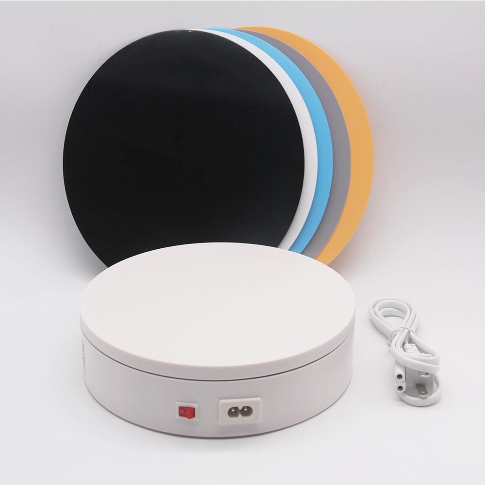 Электрическая Поворотная подставка Foleto, поворот на 20 см, 360 градусов, 220 В, Автоматическое вращение, для фотографии