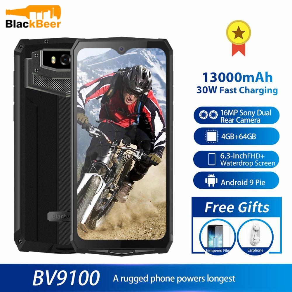 Перейти на Алиэкспресс и купить Blackview BV9100 прочный мобильный телефон IP68 Водонепроницаемый MTK6765 4G мобильный телефон 12000mAH 30W быстрая зарядка 4GB 64GB 16.0MP смартфон