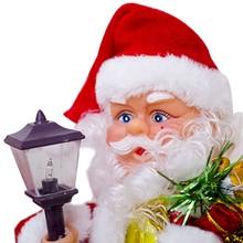 Jouet de noël animé père noël   Lumière de musique électrique, décor avec figurine de noël, 17x28cm TB, vente