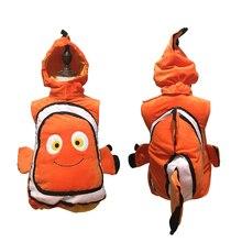 ฮาโลวีนคริสต์มาสสัตว์เครื่องแต่งกายเด็กทารกปลาสาว Clownfish จากพิกซาร์ฟิล์มคอสเพลย์แต่งกาย