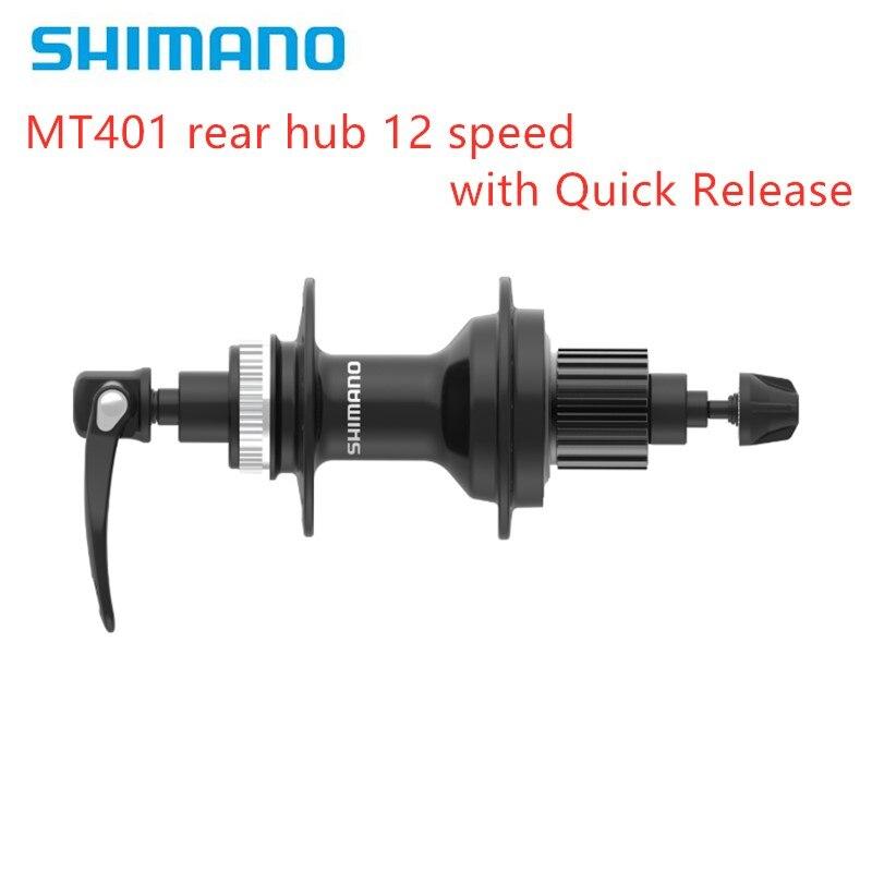 SHIMANO DEORE MT500 MT401 eje libre trasero para freno de disco 135 mm O.L.D. Buje de bicicleta de montaña MTB de 12 velocidades de liberación rápida