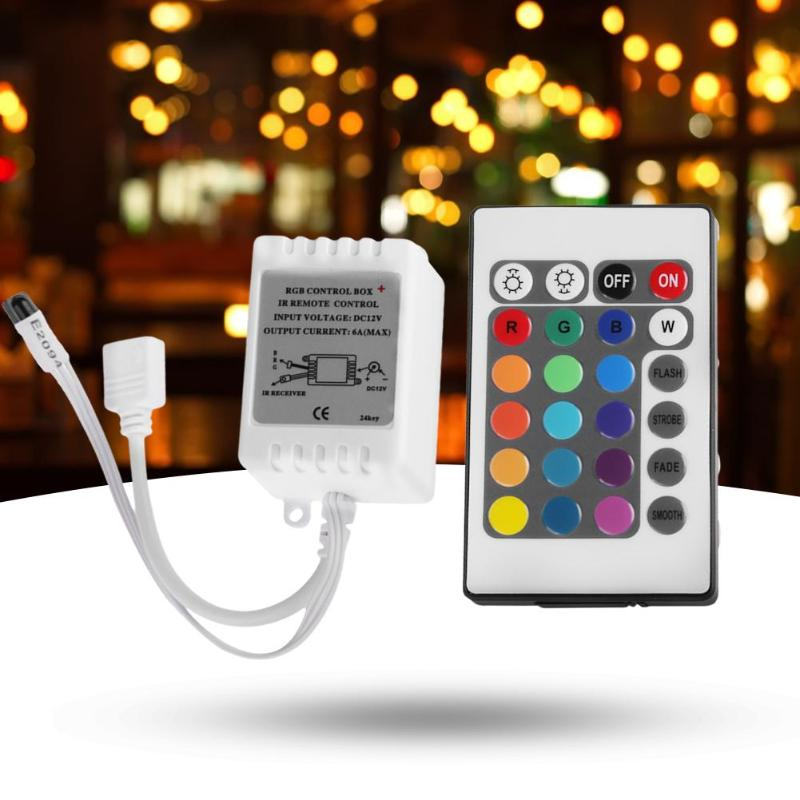14w ir remote control red Infrared IR remote control 24-key controller IR infrared remote control 24-key RGB lamp with module 12V6A controller