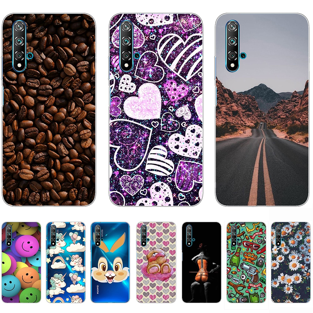 Case for Huawei nova 5T Silicon Durable Fashion Shell Case 6.26inch Tpu Non-slip Soft Bumper Anti-knock Ultra-thin Personality