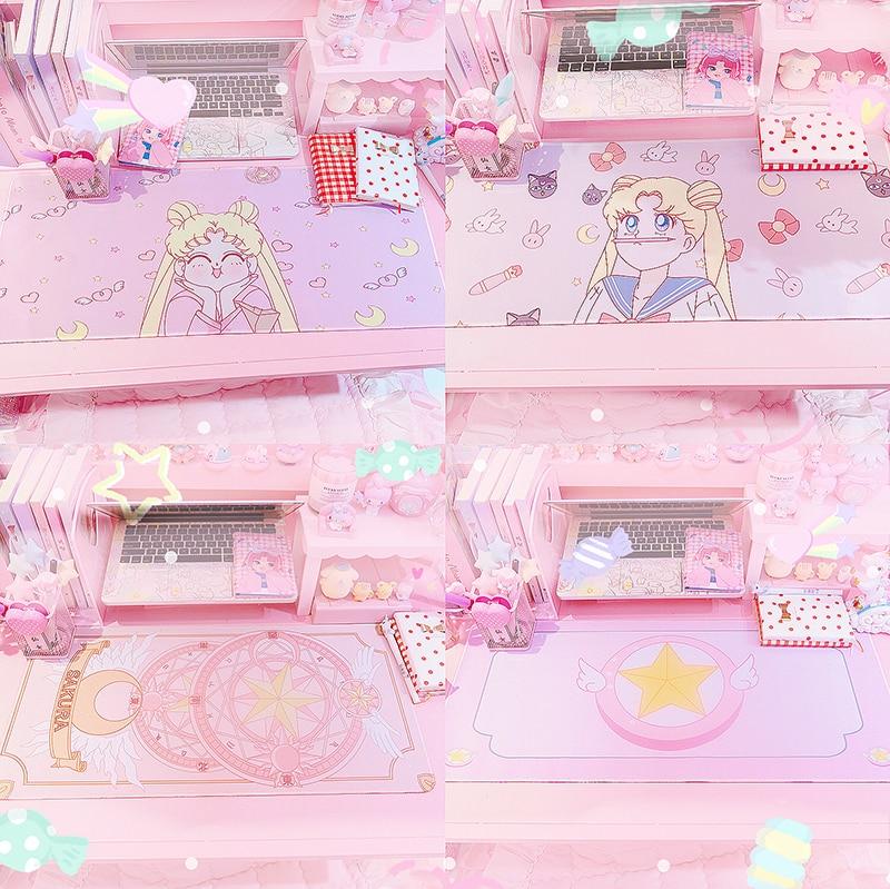 De dibujos animados marinero Luna tarjeta Captor Sakura melodía chica impreso goma ordenador portátil Mouse Pad creativo escritorio Mat 51962
