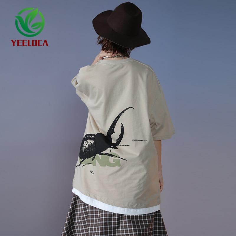 Прямая поставка 2020, новая модная футболка для мужчин и женщин, Повседневная футболка в стиле хип-хоп, свободная хлопковая одежда с принтом насекомых