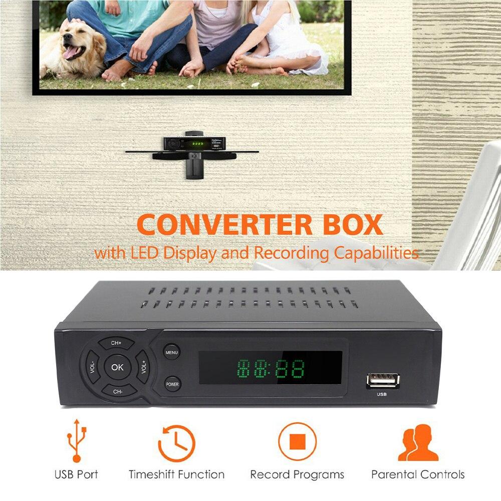 1080P HD جهاز استقبال رقمي ECOS تشغيل الذاكرة 512MB USB AV محوري واجهة التلفزيون صندوق محول رقمي