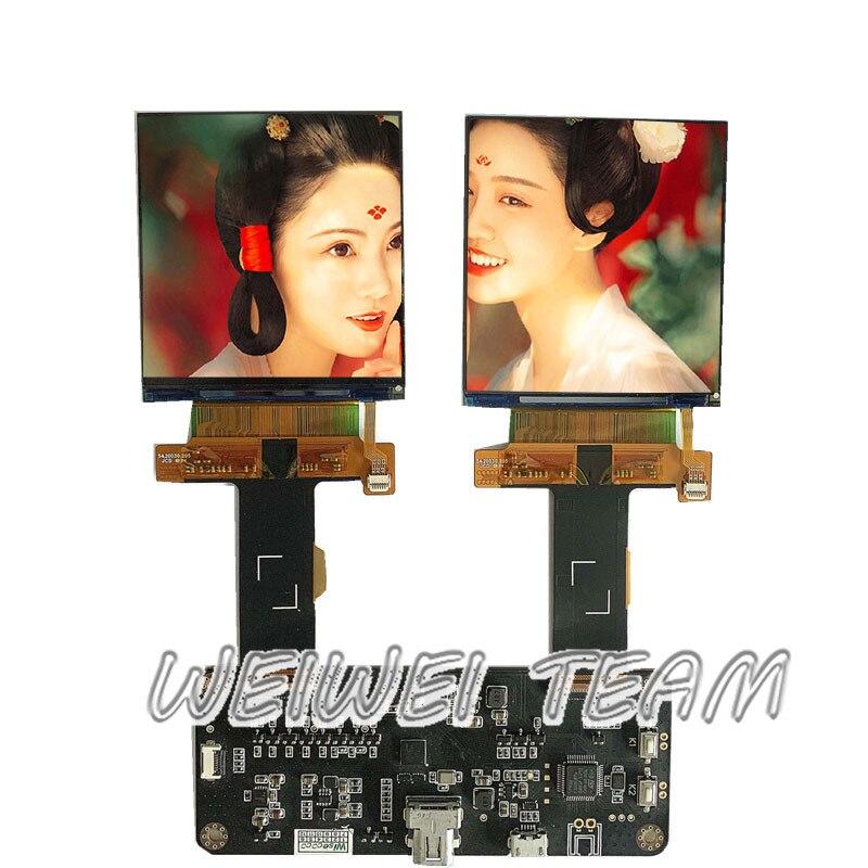 2.9 polegada 2160x2160 tela lcd head-mounted display (hmd) janelas de realidade mista (mr) vr lcds painel mipi driver board 1058 ppi