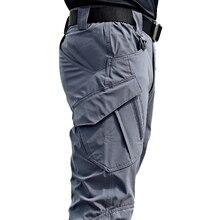 חדש Mens טקטי מכנסיים מרובה כיס גמישות צבאי נוסע עירוני Tacitcal מכנסיים גברים Slim שומן מטענים צפצף 5XL