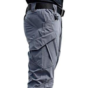New Mens Tactical Pants Multiple Pocket Elasticity Military Urban Commuter Tacitcal Trousers Men Slim Fat Cargo Pant 5XL