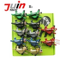 juin tech r1 hybrid hydraulic road disc brake set cable disc dual side actuation xc road bike caliper 160mm rotor post adapter