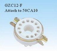 7 Uds asiento de tubo de cerámica GZC12-F soporte de tubo de asiento de 12 pines pie plateado para amplificador de tubo 50CA10