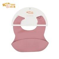 rainbowiris waterproof silicone baby bibs adjustable for children accessories