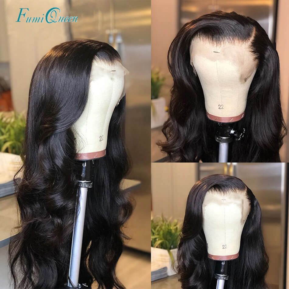 4x4 13x4 13x6 Closure Wigs Body Wave Lace Closure Wig 180% Pre Plucked Hairline With Baby Hair Brazi