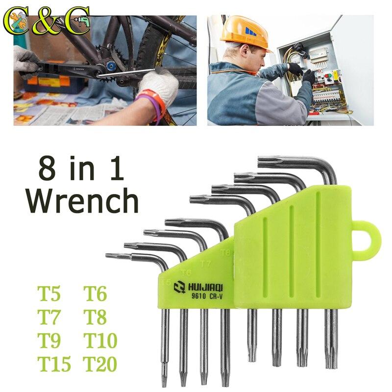 1.5-10mm Hexagon Allen Key Wrench Tools set imbus Matte Chrome Ball End Spanner set Screwdriver Set Tool Kit 8/9 pcs