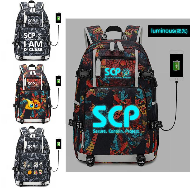 حقيبة ظهر بقاعدة SCP ، حقيبة مدرسية للطلاب ، حقيبة سفر مضيئة ، حقيبة USB للنساء ، مجموعة جديدة