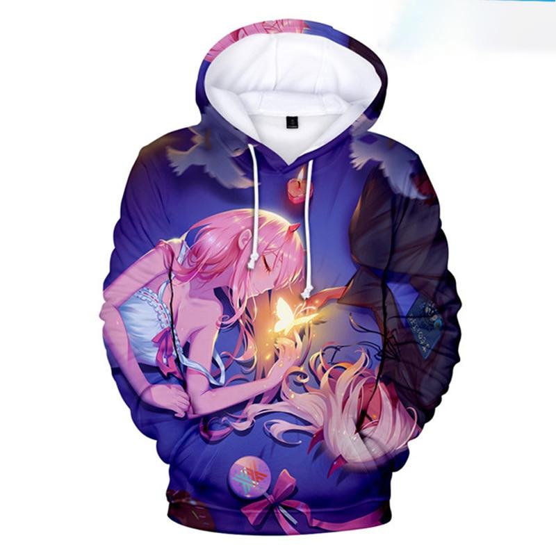 Beautiful Darling in the FranXX 3D Print Hoodies Sweatshirts Boys/Girls Cute Anime Zero Two Sweatshirt Popular Pullover