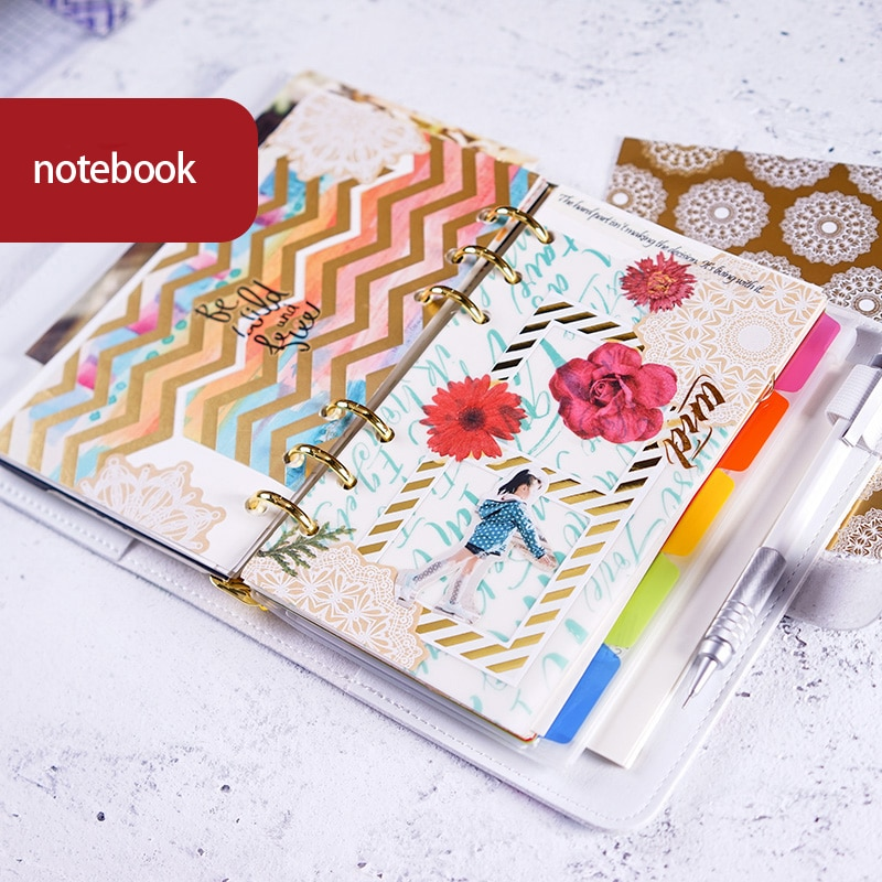 Planet notebook planificador cubierta Linda creativa mano-libro diario nota libro con regalos suministros de papelería escolar