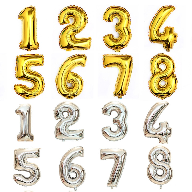 40inch Foil Numbers Wholesale Good Quality Helium Balloons Supplies Birthday Party Decoration With Card Packing