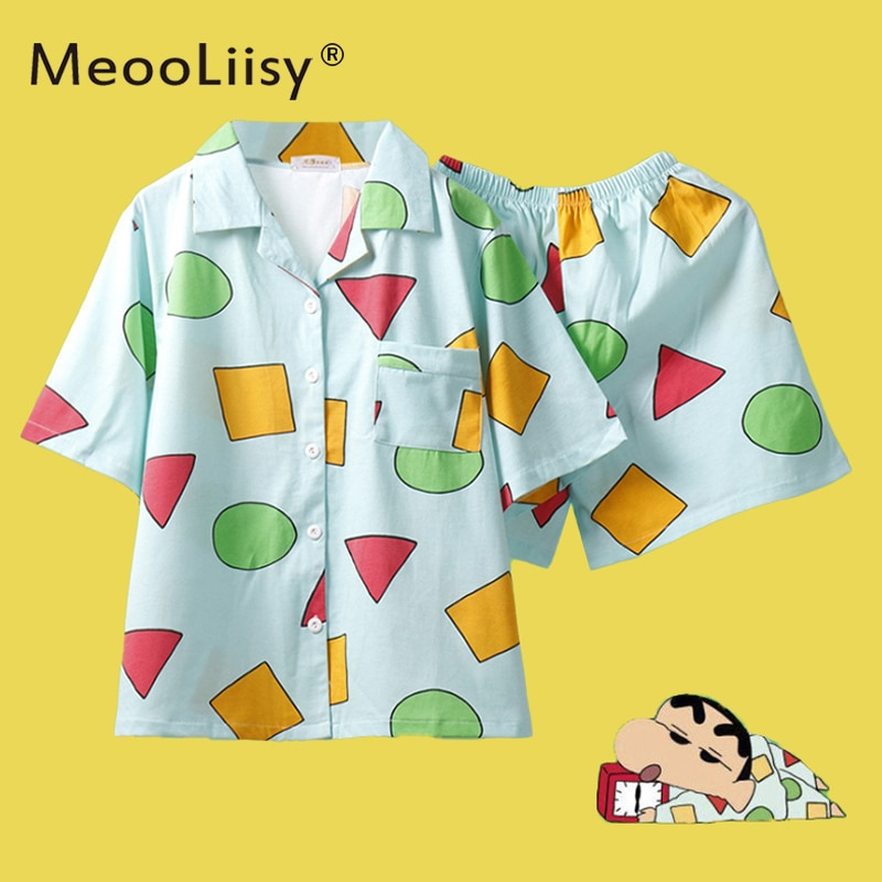 MeooLiisy Pijama  Women's Pajamas for Woman Summer Sleepwear Suits with Shorts Pajama Set Home Cloth