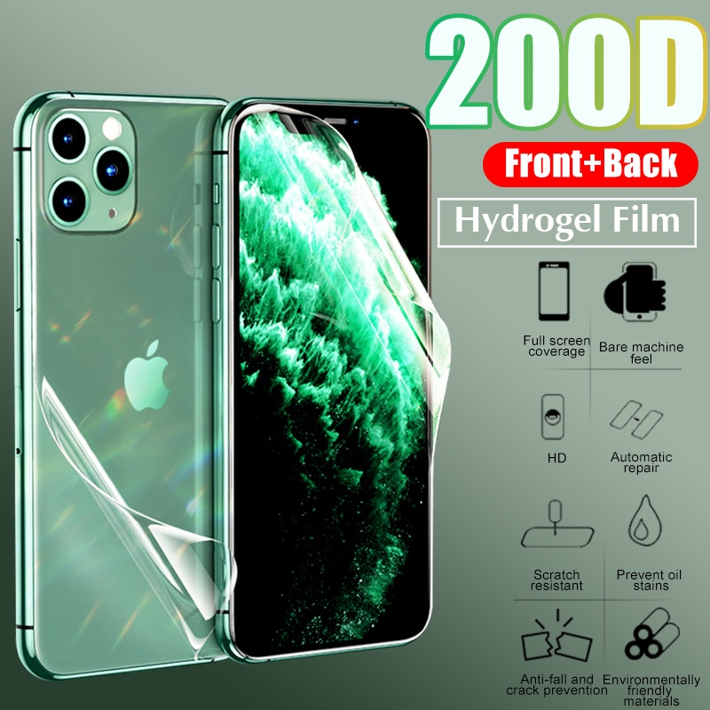 Hydrogel Film Screen Protector For iPhone 6 7 8 Plus Soft Protective Film On The For iPhone X XR XS