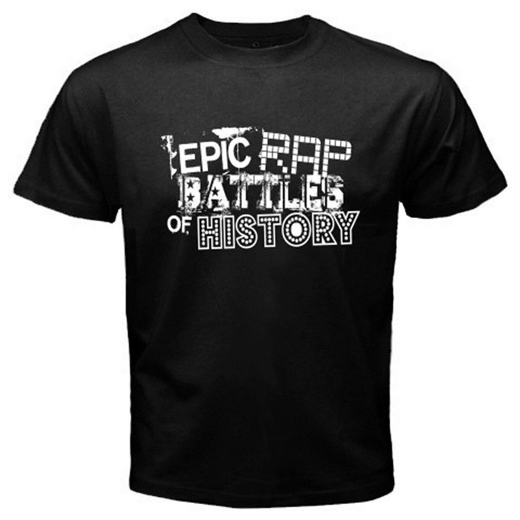 New ERB Epic Rap Battles Logo Music Mens Black T-Shirt Size S-3XL Classic Unique Tops Tee Shirt