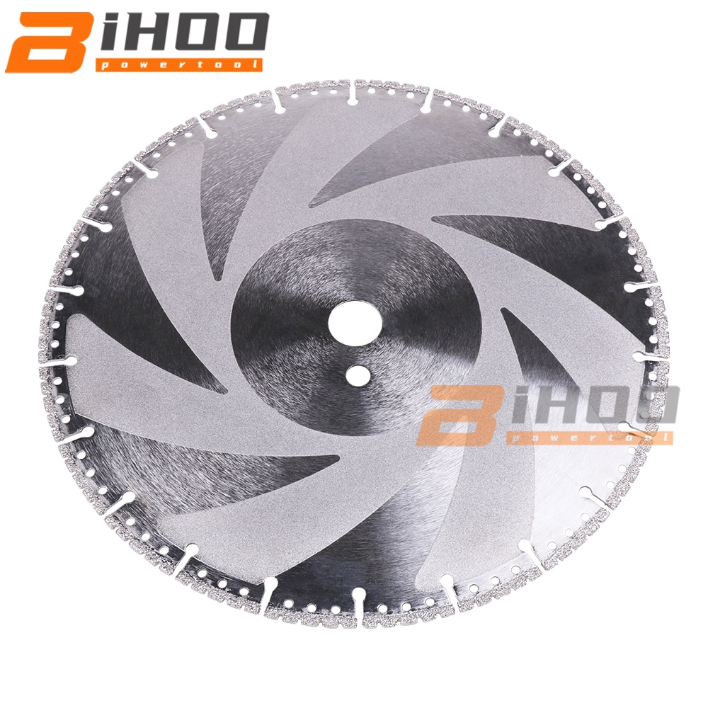 300mm/12inch Vacuum Brazed Diamond Blade Multi Purpose Cutting Disc Cast Iron Rebar Aluminum Steel Plastic PVC Stone 1Pc