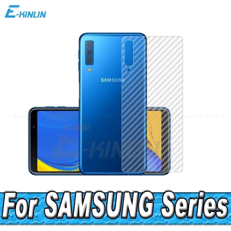3D Carbon Fiber Rear Screen Protector For Samsung Galaxy A3 A5 A7 A8 A9 A6 S9 S10e S10 Plus 2017 2018 Back Cover Film Not Glass