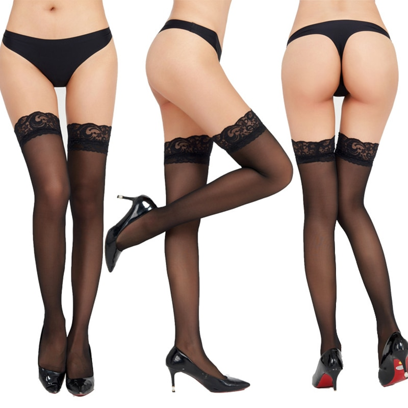 Sexy Stockings Fashion Mujer 2021 Sexy Womens Tights Lingerie Net Lace Top Thigh Stocking Pantyhose