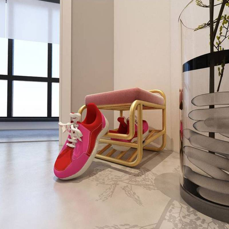 Детская мебель Children Furniture Family Nordic Light And Decoration Shoe Stool Lazy Door Bending Free Stools Shoes Rack One