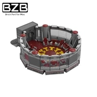 bzb moc 23852 jhedeye city high council chamber creative building block model home decoration kids diy toys birthday best gift
