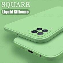 For Samsung Galaxy A22 Case Liquid Silicone Square Rubber Case For Samsung Galaxy A22 4G Cover For Galaxy M32 Galaxy M22 A03S
