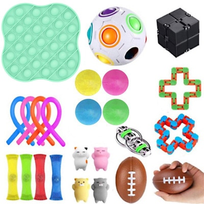 31PCS Fidget Toys Stress Relief Toys Autism Anxiety Relief Stress Pop Bubble Fidget Sensory Decompression Toy for Kids Adults enlarge