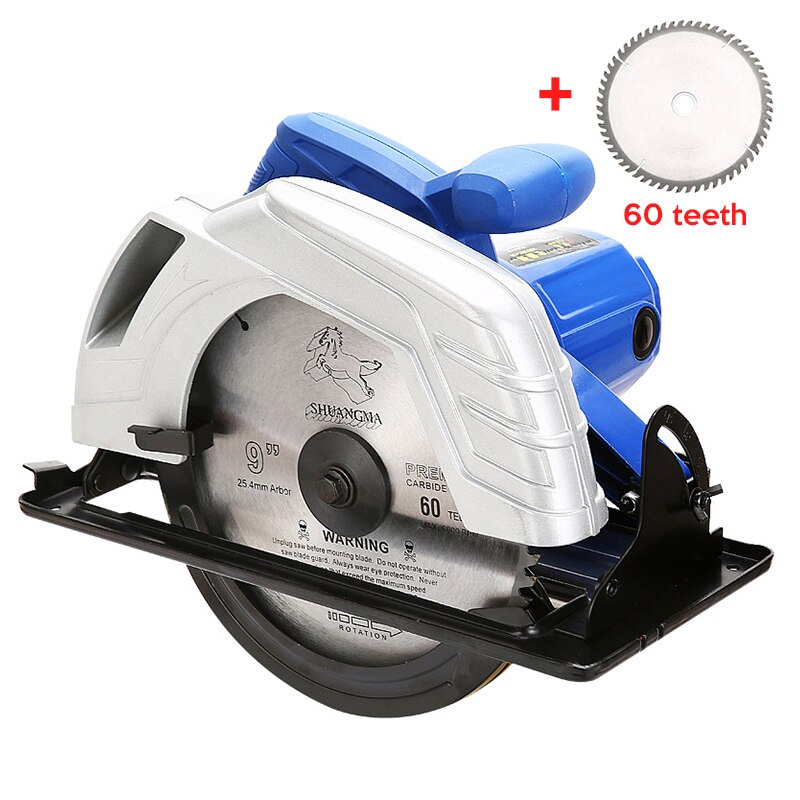 1500W Electric Woodworking Circular Saw with 7 inch blade 60mm Multi-function Cutting Machine Household Small Flip Saw Circular