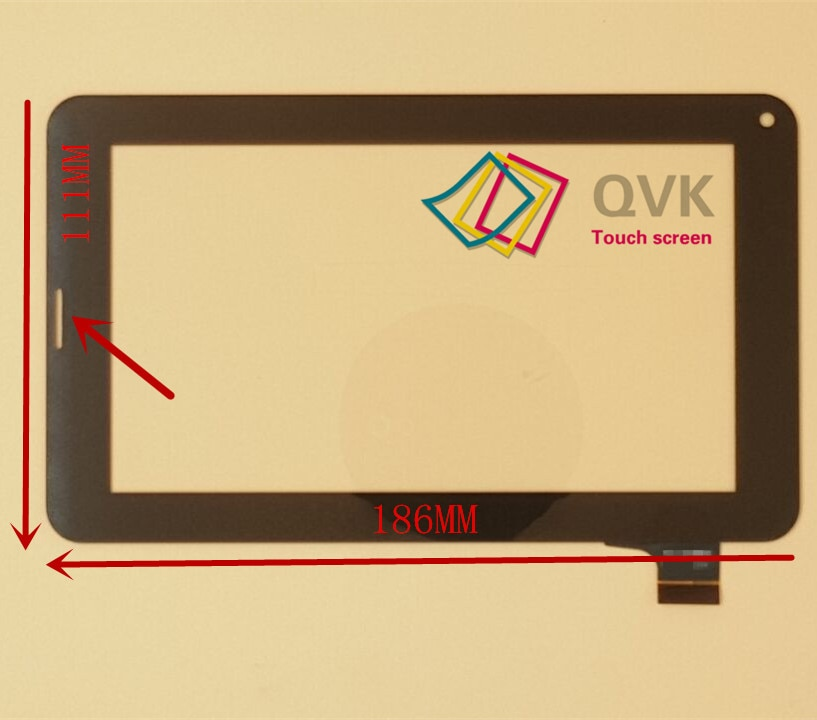 7 pulgadas capacitiva panel táctil digitalizador de pantalla táctil de cristal para SIM de la pc de la tableta del teléfono de FM703906KD FM703906KA DH-0703A1-Fpc04