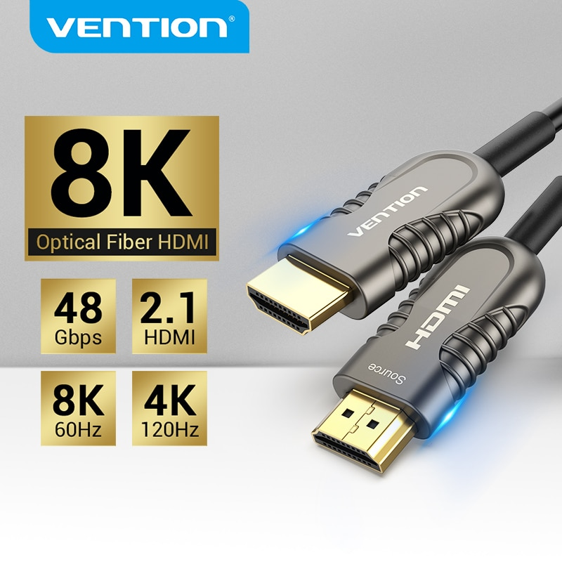 Vention-كابل HDMI للألياف البصرية 8K 2.1 ، 120 هرتز ، 48 جيجابت في الثانية ، كابل HDMI ، HDR airc فائق السرعة لصندوق التلفزيون عالي الدقة ، جهاز عرض PS4 ، كابل HDMI