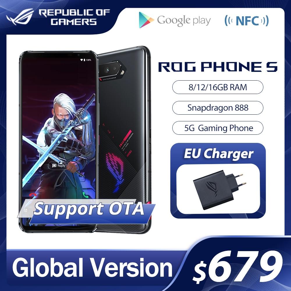 Оригинальное ASUS ROG Phone 5 глобальная версия Snapdragon888 8/12/16GB Оперативная память 128/256 ГБ Встроенная память 6000 мА/ч, 65 Вт NFC OTA Update игровой телефон ROG5