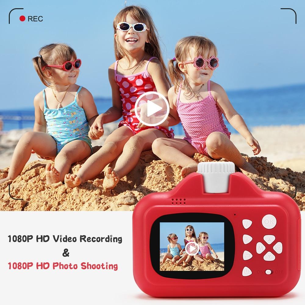 Kids Camera WIFI Instant Print Camera Thermal Printer Wireless WIFI Phone Printer 32GB Card 1080P HD Children Digital Camera Toy enlarge