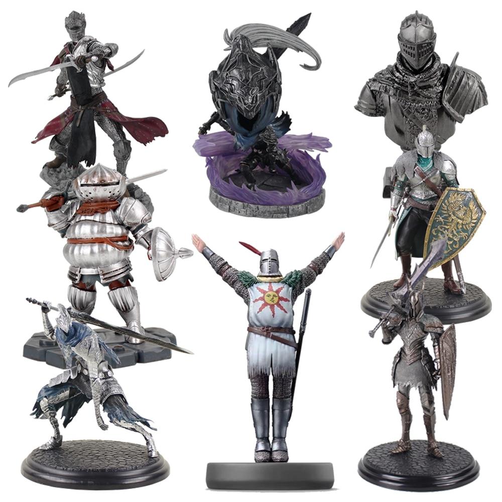 8-22cm Dark Souls Heroes of Lordran Siegmeyer Black Knight Faraam Artorias PVC Figure Collectible Model Toy