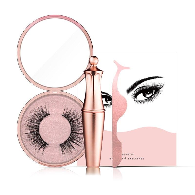 Delineador de ojos magnético Genailish y kit magnético delineador de ojos impermeable de larga duración reutilizable pestañas postizas embalaje personalizado