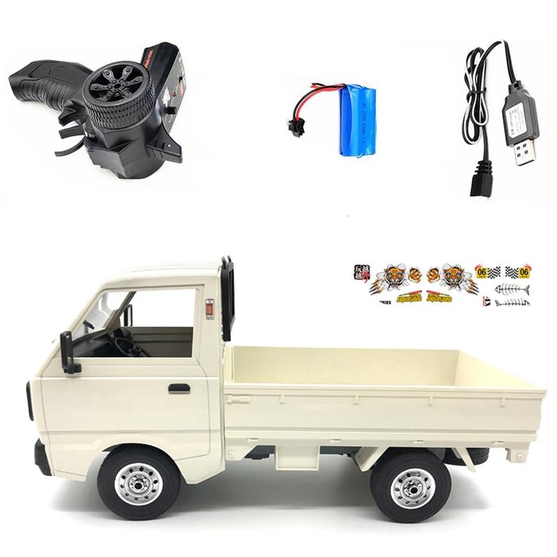 WPL D12 1/10 2,4G 2WD Camión Militar Crawler todoterreno RC coche modelos de juguete regalos coche de Control remoto