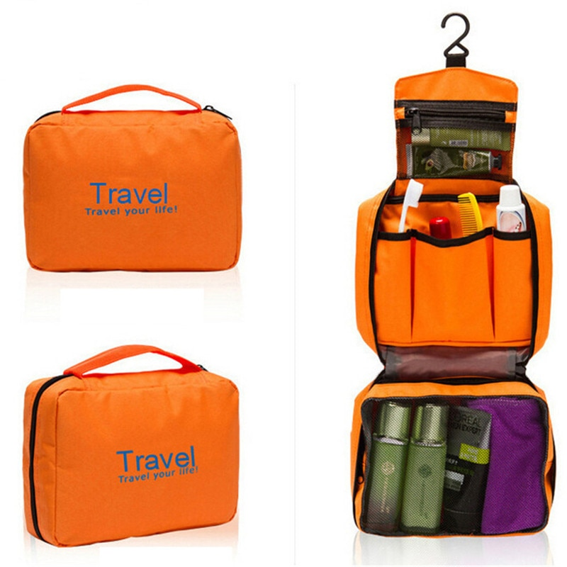 Bolsas de viaje VOGVIGO, bolsa de cosméticos plegable, bolsa de lavado de letras impermeable, se puede colgar, organizador de equipaje, bolsas de viaje, equipaje de mano