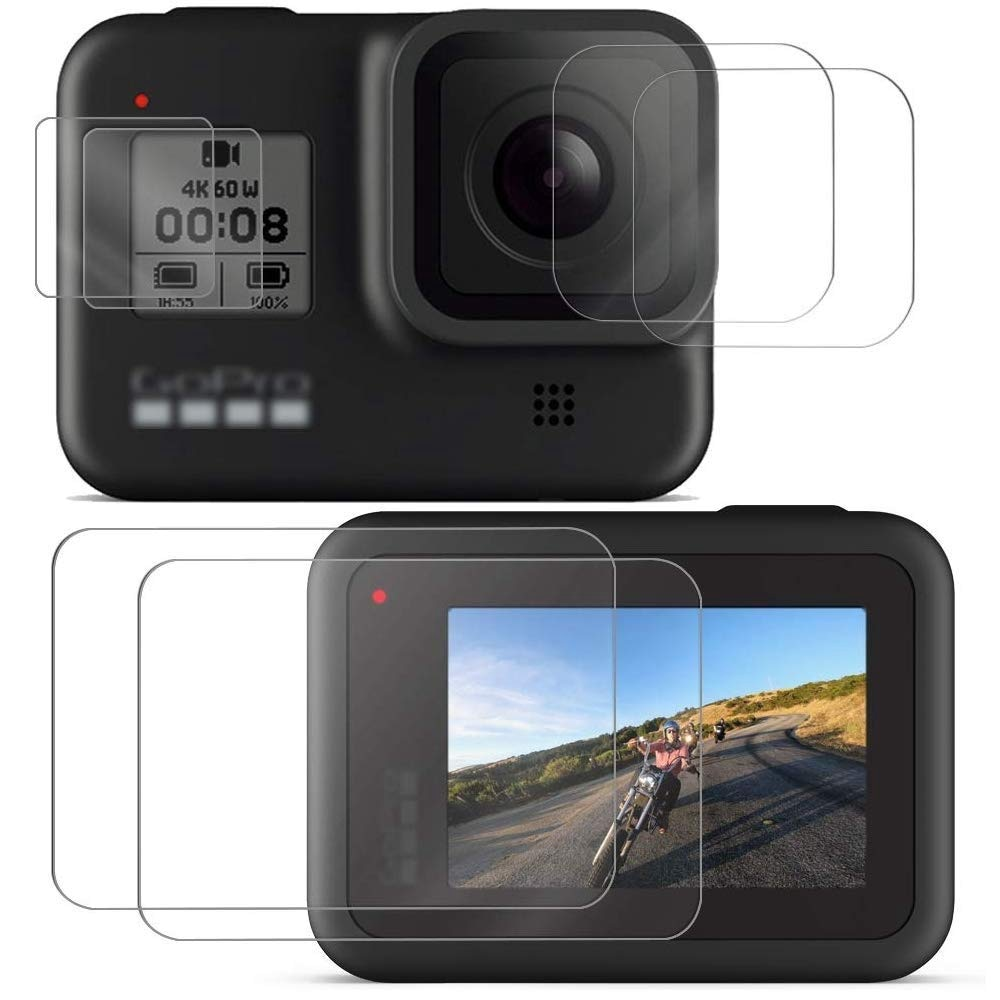 Sports camera Screen protectors for Gopro Hero 8 Tempered glass screen protector for Gopro 8 Lens Protector camera accessories