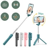wireless bluetooth stick tripod remote control for xiaomi huawei iphone ios android 700cm pink green