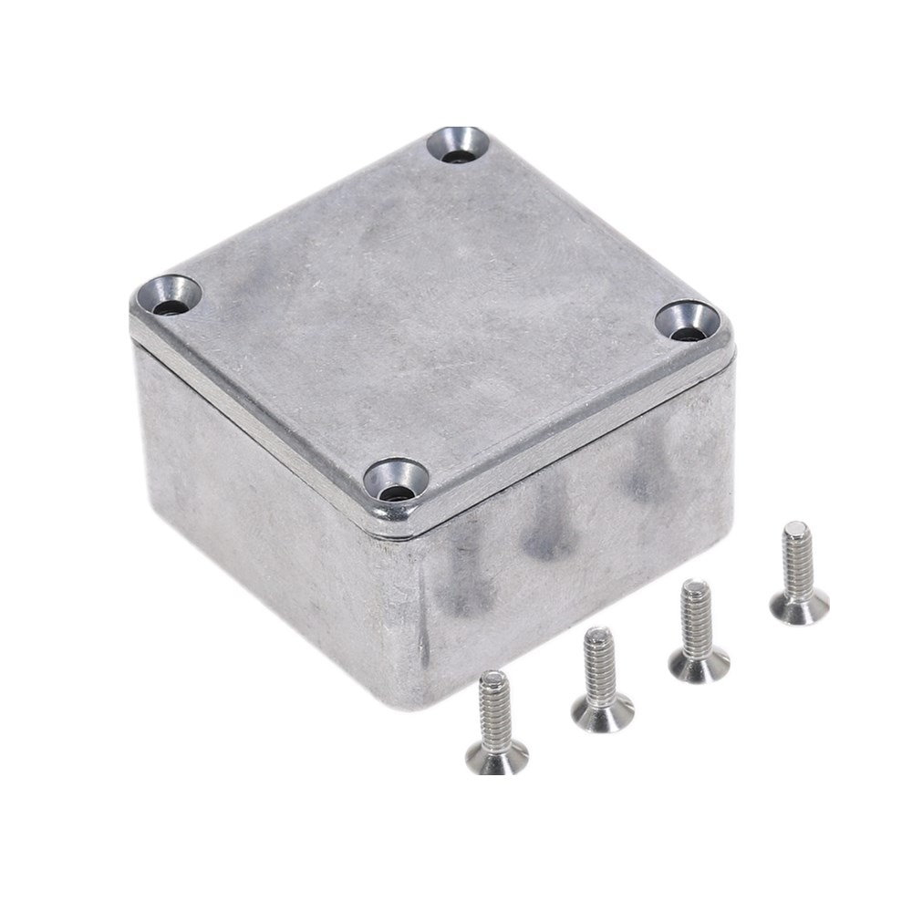Серебряный алюминиевый корпус Электронный Diecast Stompbox коробка проекта 1590LB 50,5*50,5*31 мм