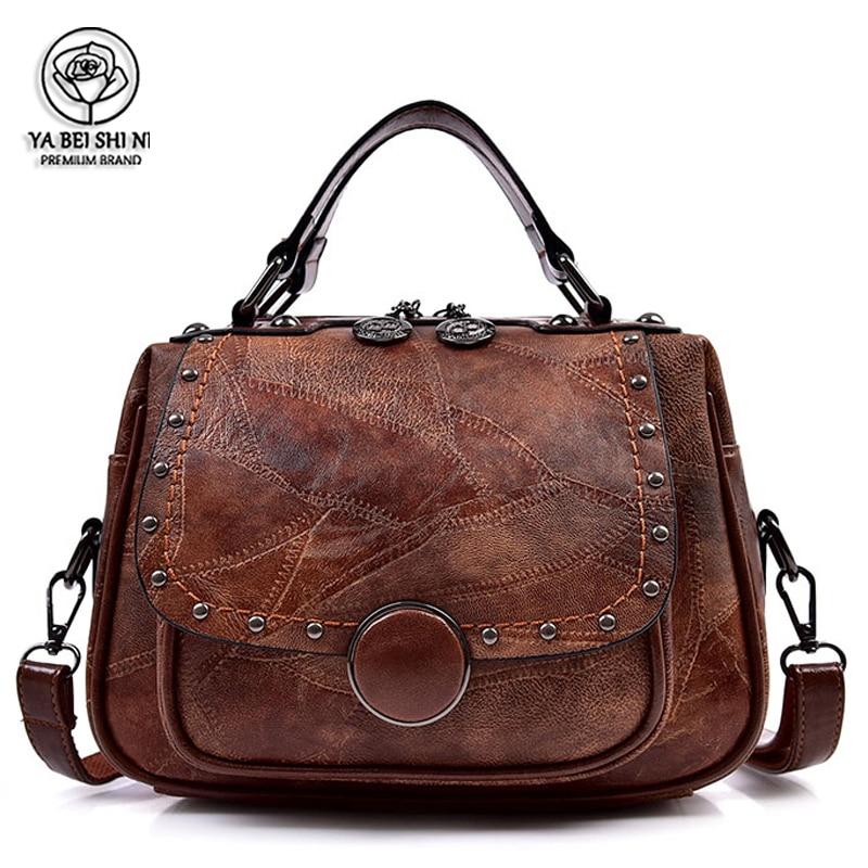Retro Old Style Woman Tote Bag PU Leather Hand Bags Portable Woman Shoulder Bag Sac A Main Luxury Handbags Women Bags Designer