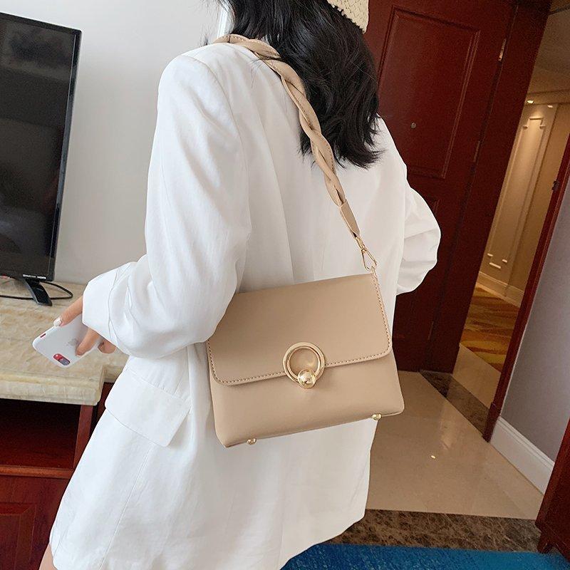 ¡Tendencia! Bolso bandolera pequeño para mujer 2020, bolsos de cuero suave lujoso, bolsos de mano para mujer, bolsos de mano de diseñador a la moda para mujer