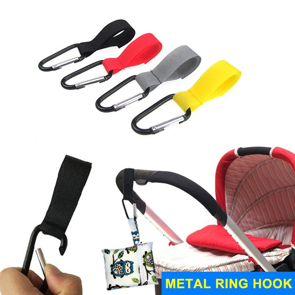 Baby Hanger Multifunction Baby Bag Stroller Hooks Carriage Pram Black Rotate 360 Degree Cart Plastic